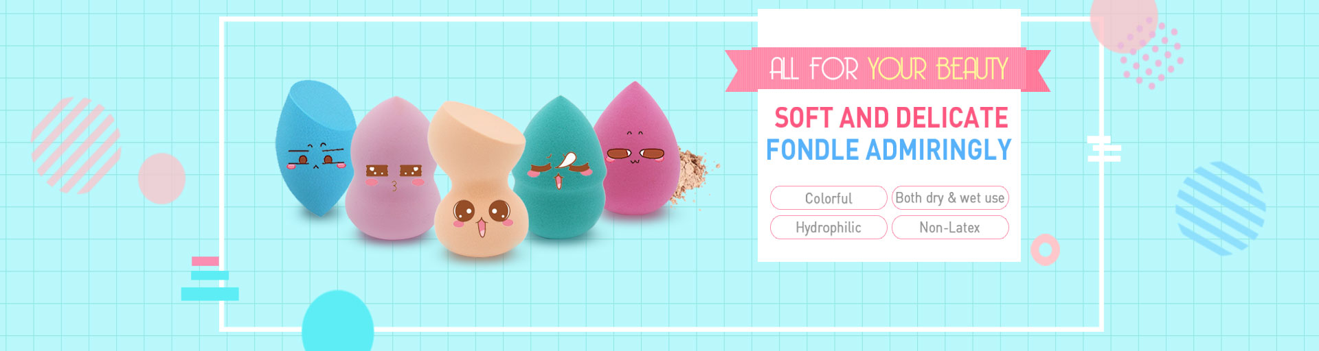 Non-latex Sponge Powder Puff